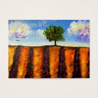 Über dem Lavendel fängt ACEO Kunst-Trading Cards Visitenkarte