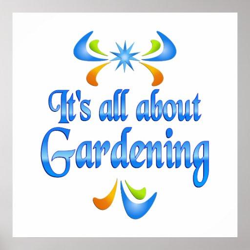 Über die Gartenarbeit Poster