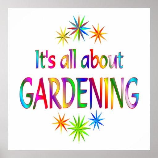 Über die Gartenarbeit Plakate