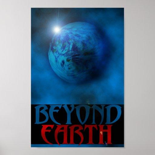 Über Erde hinaus Poster