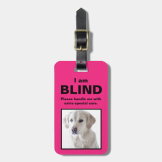 [Über meinen Hund] blinder tauber Katzen-Hund Kofferanhänger