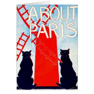 Über Paris-Anzeige 1895 Karte