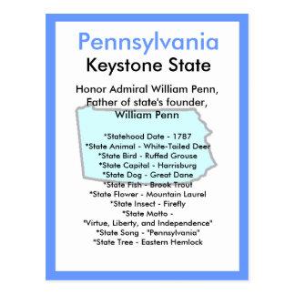 Über Pennsylvania Postkarte