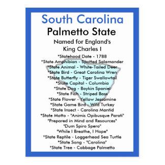 Über South Carolina Postkarte