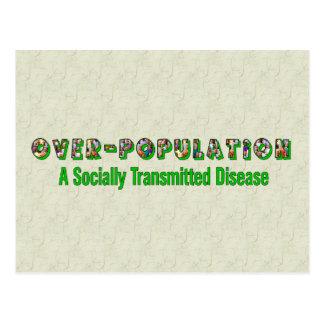 Überbevölkerung ist eine Geschlechtskrankheit Postkarte