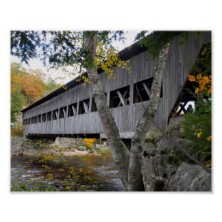 Überdachte Brücke 7692 Poster