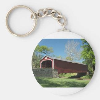Überdachte Brücke in Pennsylvania Schlüsselanhänger