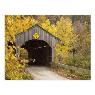 Überdachte Brücke, Vermont, USA 2 Postkarte