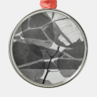 """Überdachungs-Nr. 1-"" Grafik Silbernes Ornament"