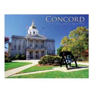 Übereinstimmung, New Hampshire Postkarte
