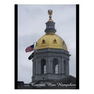 Übereinstimmung, New Hampshire-Postkarte Postkarte