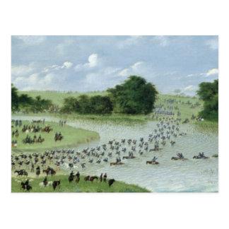 Überfahrt des San Joaquin Rivers, Paraguay, 1865 Postkarte