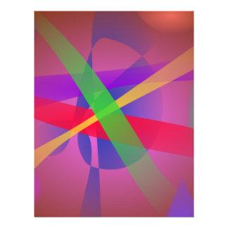 Überfahrt zeichnet abstrakte Kunst Browns Individuelle Flyer