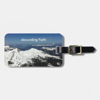 Überfluss habende Glauben-Gepäckanhänger-Berge Gepäckanhänger