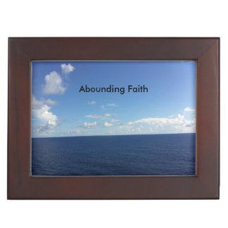 Überfluss habender Glauben-Ozean-Andenken-Kasten Erinnerungsdose