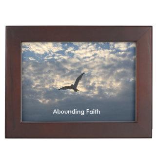 Überfluss habender Glauben-Vogel-Andenken-Kasten Erinnerungsdose
