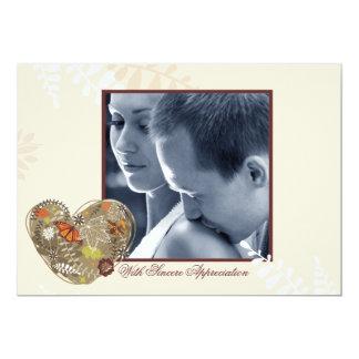Überfluss habendes Liebe-Foto danken Ihnen 12,7 X 17,8 Cm Einladungskarte