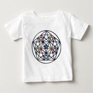 Überfluss-heiliges Geometrie-Fraktal des Lebens Baby T-shirt