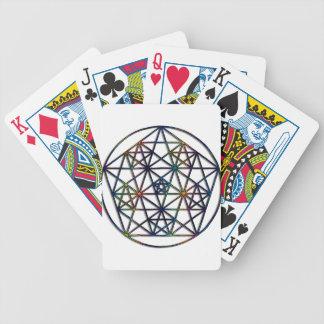 Überfluss-heiliges Geometrie-Fraktal des Lebens Bicycle Spielkarten