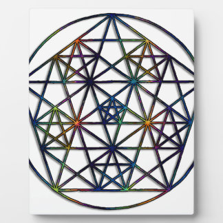 Überfluss-heiliges Geometrie-Fraktal des Lebens Fotoplatte