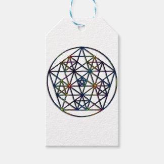 Überfluss-heiliges Geometrie-Fraktal des Lebens Geschenkanhänger