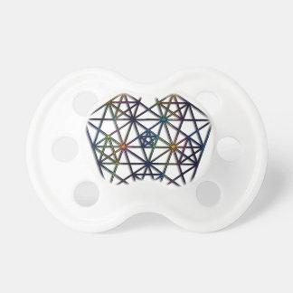 Überfluss-heiliges Geometrie-Fraktal des Lebens Schnuller