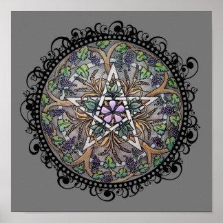 "Überfluss-Pentagramm-Plakat - 12"" X12 "" Poster"