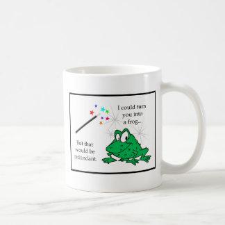 Überflüssiger Frosch Kaffeetasse