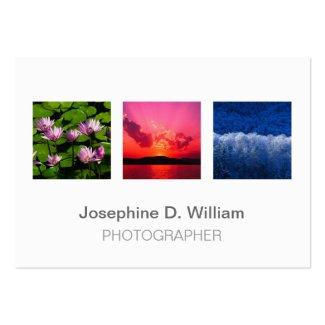 Überformat3 Fotos oder weißes graues modernes Chic Visitenkarte