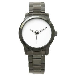 Übergroße schwarze Armband-Unisexuhr Uhr