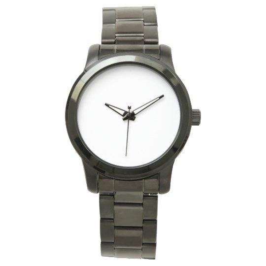 Custom Übergroße schwarze Unisex Armbanduhr