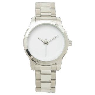 Übergroße silberne Unisexuhr Uhren