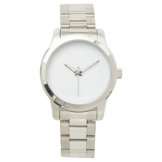 Custom Übergroße silberne Unisex Armbanduhr