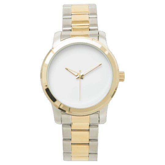 Custom Übergroße zweifarbige Unisex Armbanduhr