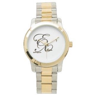 Übergroße Zwei-Ton Armband-Unisexuhr Armbanduhr