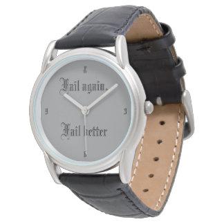 Überhaupt versuchtes überhaupt versagtes armbanduhr