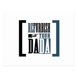 Überholen Sie Ihr Dada Postkarte