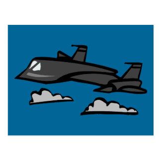 Überholtes Flugzeug-Fliegen der Amsel-SR71 in den Postkarte