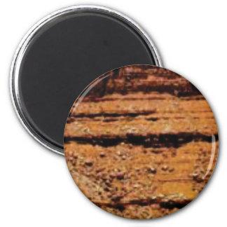 überlagerte Kieswand Runder Magnet 5,7 Cm