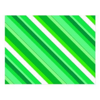 Überlagerte Süßigkeitsstreifen - Smaragdgrün und Postkarte