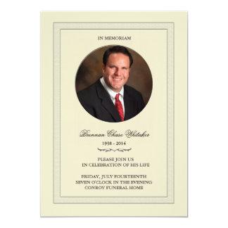 Überlagertes Foto in Memoriam Karte 12,7 X 17,8 Cm Einladungskarte