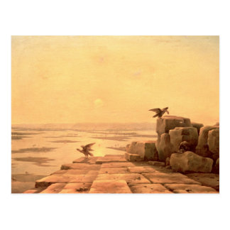 Überlauf des Nils, 1842 Postkarte