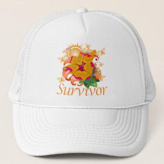 Überlebend-Blumenorange Truckerkappe