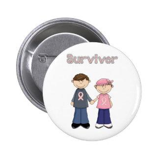 Überlebend-Cartoon Anstecknadelbutton