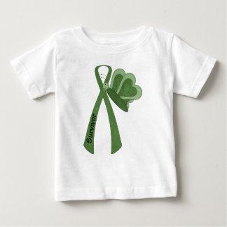 Überlebend-grünes Bewusstsein Baby T-shirt