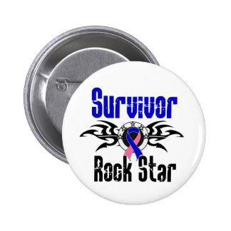 Überlebend-Rockstar - männlicher Brustkrebs-Überle Anstecknadel