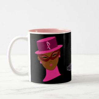 Überlebender im rosa Brustkrebs-Bewusstseins-Band Zweifarbige Tasse