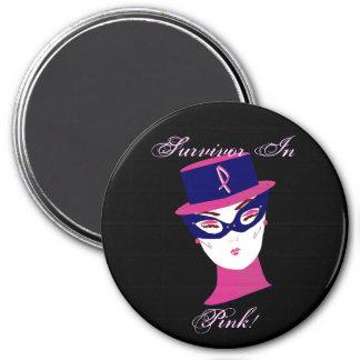 Überlebender im rosa Krebs-Bewusstsein Kühlschrankmagnete