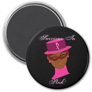 Überlebender in rosa Krebs-Bewusstsein I Kühlschrankmagnet