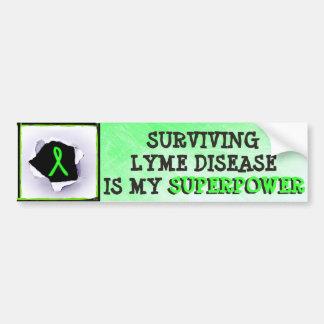 Überlebender Lyme Autoaufkleber